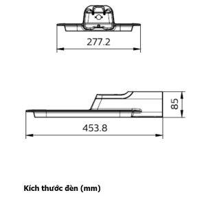 Kích thước đèn BRP131 LED100 Philips
