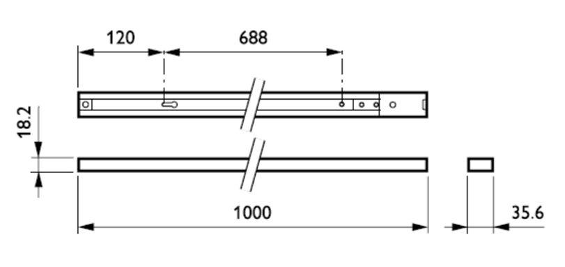 Kích thước thanh ray RCS170 1C