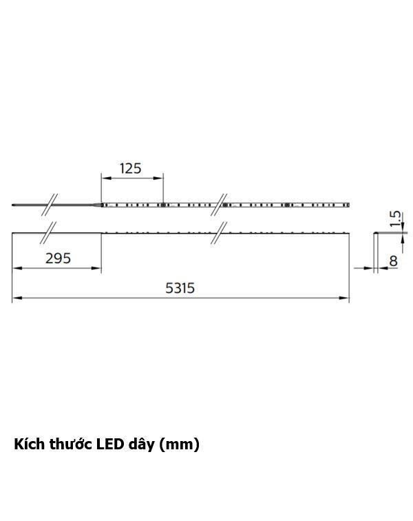 Kích thước LED dây Philips LS160S