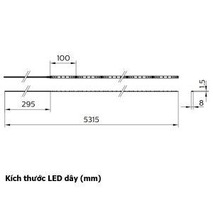 Kích thước LED dây Philips LS162S